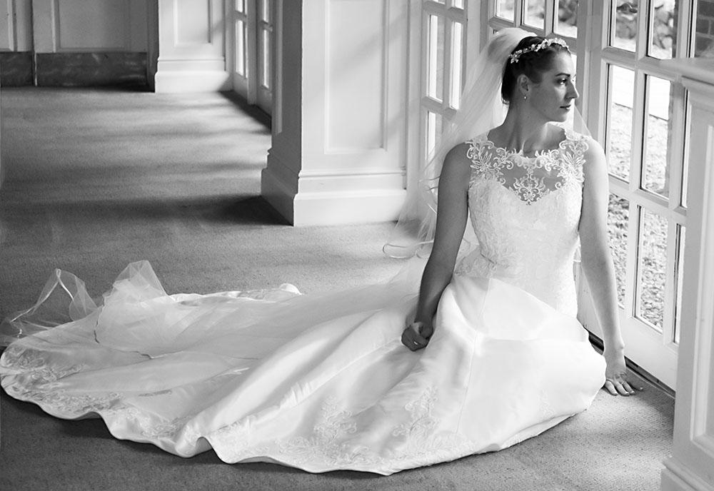 Bridal portrait leicestershire