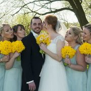 bridesmaids beedles lake golf course yellow bouquet