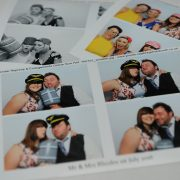 photo booth wedding happy couple