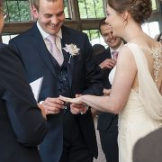 ring wedding ceremony happy bride laughing groom