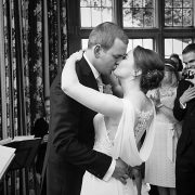 civil ceremony wedding kiss love romantic