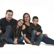 family photoshoot, high key portrait