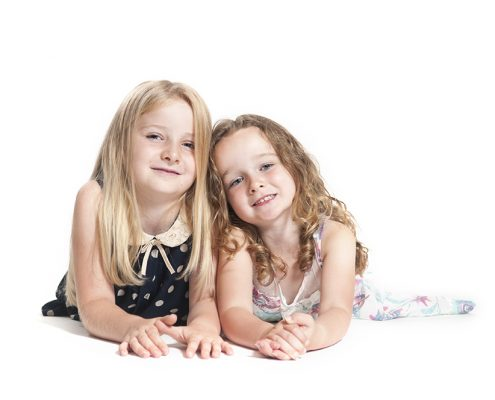 girls sisters cute high key portrait birstall