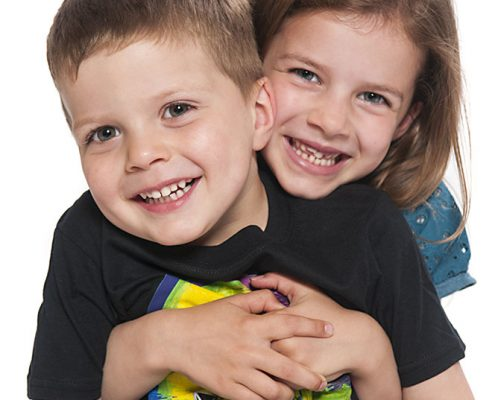 siblings brother sister hug cuddle love professional studio photo birstall leicestershire