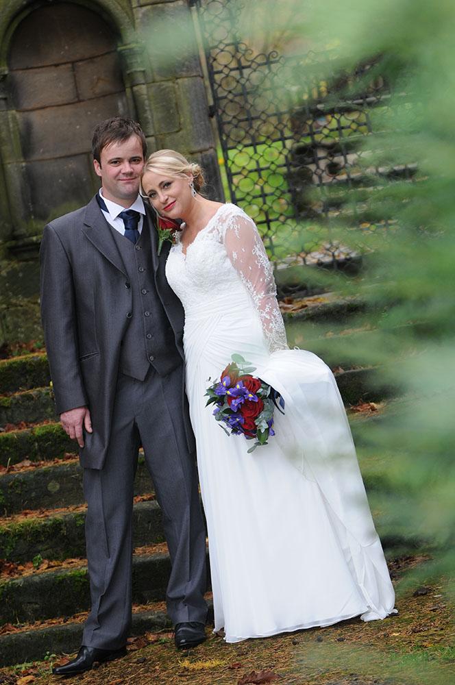 Autumn Wedding couple rose tinted photos, Leicester wedding photography
