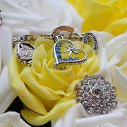 wedding flowers yellow diamante sparkles bride bouquet leicester photographer