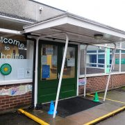 Greengate building reception entrance February 2018, Highcliffe Primary, Birstall, Leicestershire