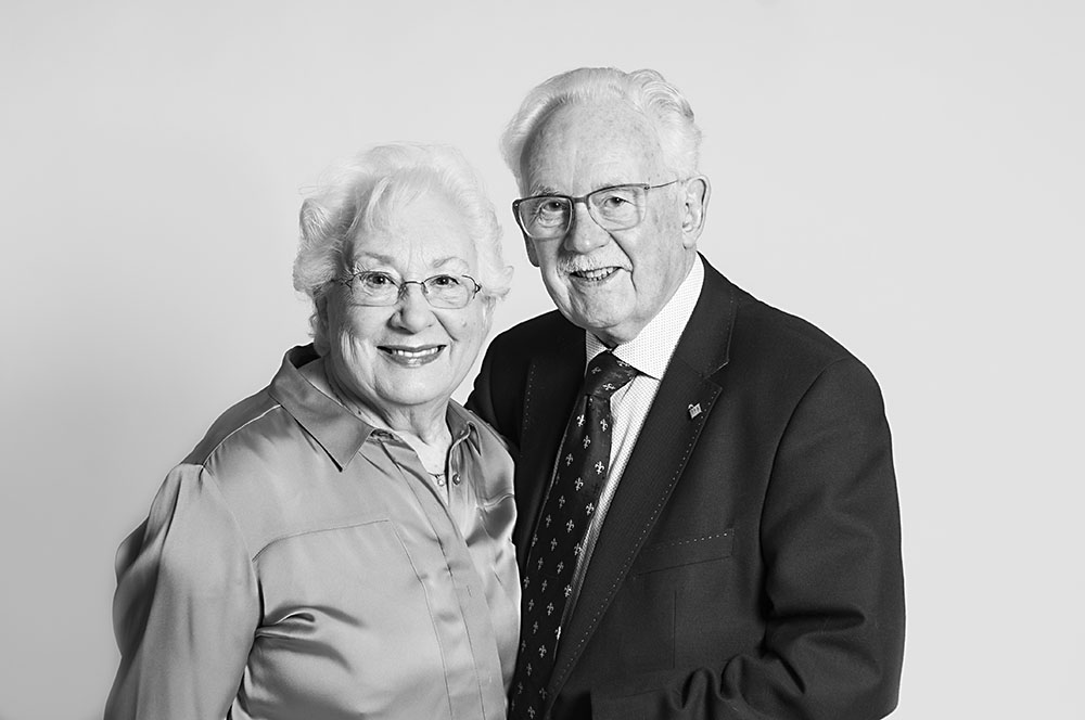 studio photoshoot black white grandparents, couple, marriage, leicestershire