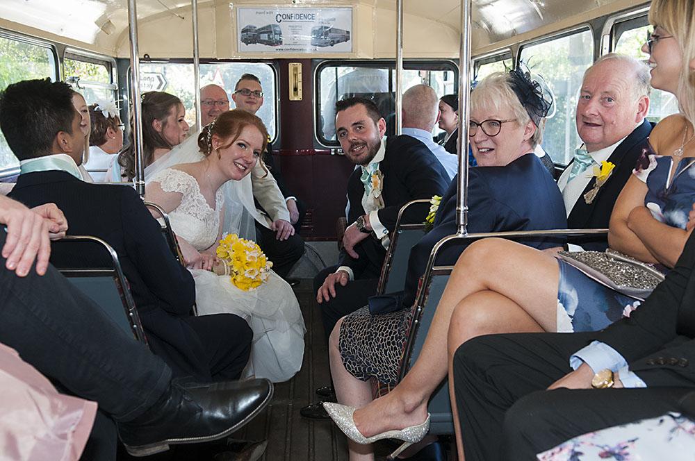 wedding vintage bus leicester, birstall wedding photographer