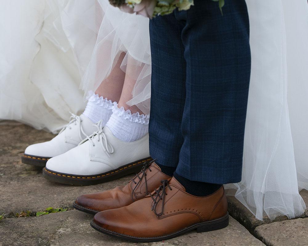 doc martin wedding shoes alternative bride leicester wedding photographer