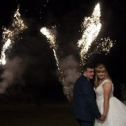 bride and groom firework display wedding photography leicester