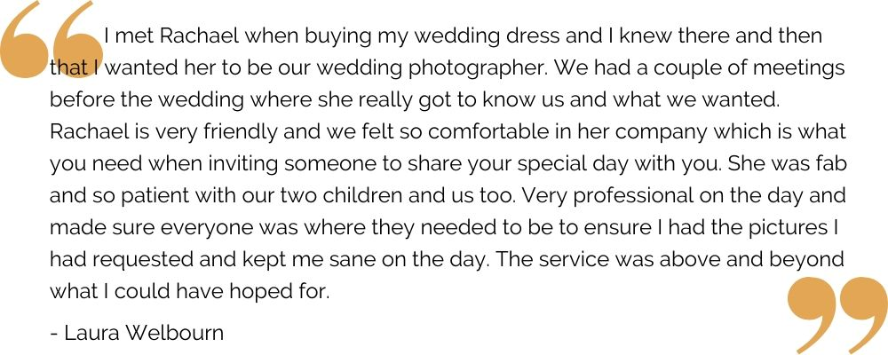 Leicester wedding photography great testimonial from happy bride